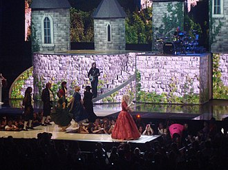 "Love Story (Taylor Swift song) - Swift performing ""Love Story"" on the Fearless Tour."