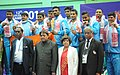 Team India won Gold Medal in the Men's Kabaddi, at the 12th South Asian Games-2016, in Guwahati on February 15, 2016.jpg