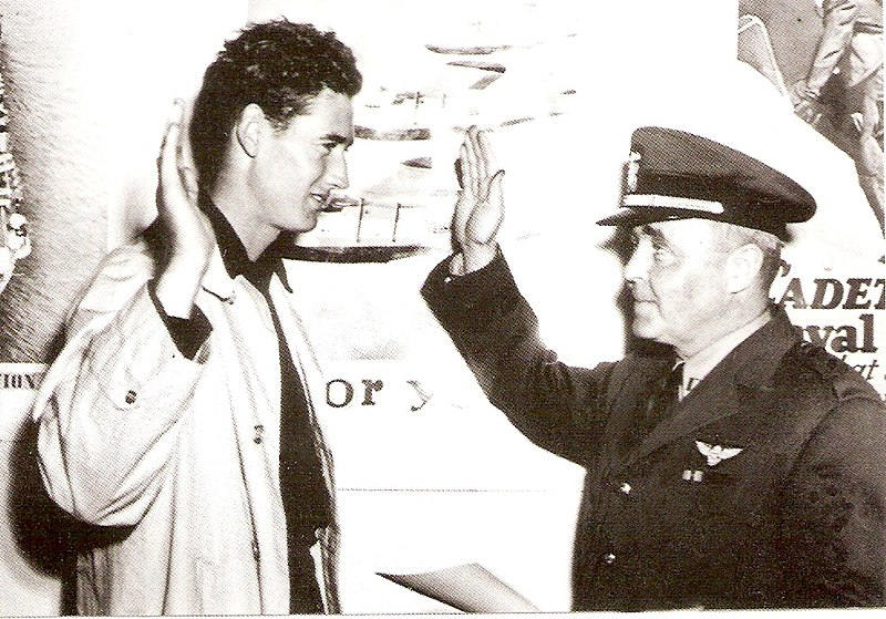File:Ted Williams swearing into the Navy 1942.jpg