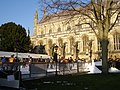 Temporary outdoor ice rink, Winchester Cathedral - geograph.org.uk - 636534.jpg