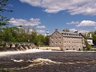 Terrebonne, Quebec - The Moulin neuf (New Mill) at the Île-des-moulins