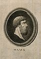 Thales of Miletus. Stipple engraving by F. Ramberg. Wellcome V0005772.jpg