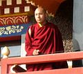 The 17th Karmapa at the Tibetan Vajra Vidya monastery in Sarnath.jpg