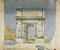 The Arch of Titus, Rome - Charles Rennie Mackintosh - 1891.jpg
