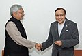 The Chief Minister of Bihar, Shri Nitish Kumar meeting with the Union Minister of Petroleum and Natural Gas, Shri Murli Deora, in New Delhi on February 11, 2008.jpg
