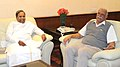 The Chief Minister of Karnataka, Shri Siddaramaiah meeting the Union Minister for Civil Aviation, Shri Ashok Gajapathi Raju Pusapati, in New Delhi on November 07, 2014 (1).jpg