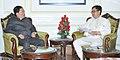The Chief Minister of Sikkim, Shri Pawan Chamling calling on the Minister of State for Home Affairs, Shri Kiren Rijiju, in New Delhi on November 17, 2015.jpg