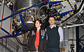The Crown Prince Couple of Denmark inside one of the domes of ESO's Very Large Telescope (wallpaper).jpg