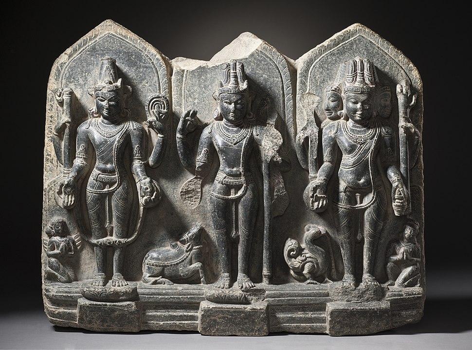The Hindu Gods Vishnu, Shiva, and Brahma LACMA M.86.337 (1 of 12)