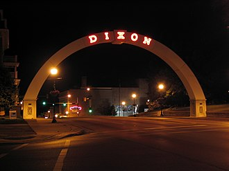 Dixon, Illinois - The Dixon Memorial Arch.