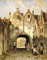 The Old Gate by Charles Leickert Rijksmuseum Amsterdam SK-A-3084.jpg