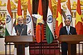 The Prime Minister, Shri Narendra Modi and the Prime Minister of the Socialist Republic of Vietnam, Mr. Nguyen Xuan Phuc at the joint media briefing, in Hanoi, Vietnam on September 03, 2016 (2).jpg