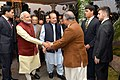 The Prime Minister, Shri Narendra Modi visits the Prime Minister of Pakistan, Mr. Nawaz Sharif's home in Raiwind, where his grand-daughter's wedding is being held, in Pakistan on December 25, 2015 (2).jpg