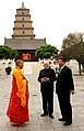 The Prime Minister, Shri Narendra Modi with the President of the People's Republic of China, Mr. Xi Jinping, at Big Wild Goose Pagoda, China on May 14, 2015 (1).jpg