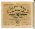 The Queen's Hospital Corporation, life membership certificate, c. 1873.jpg