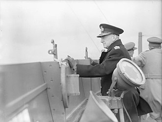 Dudley Pound - Pound on board the RMS ''Queen Mary'' sailing to the United States