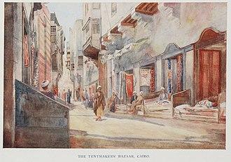 Khayamiya - Image: The Tentmakers' Bazaar, Cairo. (1907) TIMEA