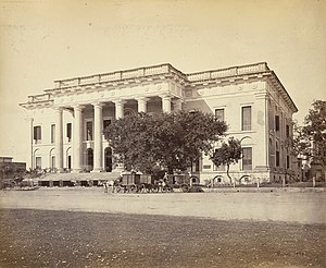 Kolkata Town Hall - The Town Hall in the 1860s.