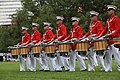 The U.S. Marine Drum and Bugle Corps performs during the Sunset Parade June 5, 2012, at the Marine Corps War Memorial in Arlington, Va 120605-M-KS211-215.jpg