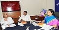The Union Minister for Human Resource Development, Smt. Smriti Irani digitally launching the projects under the Rashtriya Uchchatar Shiksha Abhiyan (RUSA), in New Delhi.jpg