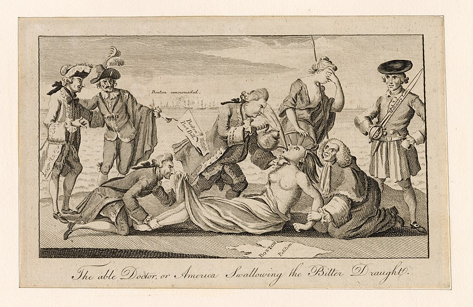 The able doctor, or America swallowing the bitter draught (NYPL Hades-248165-425086)