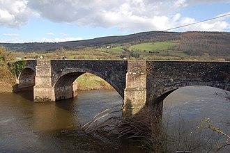 "New Bridge, Newbridge-on-Usk - ""an elegant Georgian triple-arched bridge"""