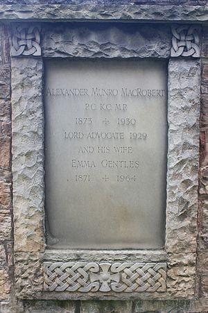Alexander Munro MacRobert - The grave of Alexander Munro MacRobert, Dean Cemetery
