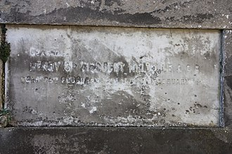 Henry Dundas, 3rd Viscount Melville - The grave of General Henry Dundas, 3rd Viscount Melville, Dundas Vault, Old Lasswade Kirkyard