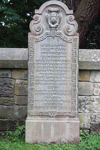 J. J. Stevenson - The grave of J J Stevenson, Dean Cemetery, Edinburgh