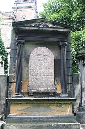 John Marshall, Lord Curriehill - The grave of John Marshall, Lord Curriehill, St Cuthbertd churchyard, Edinburgh