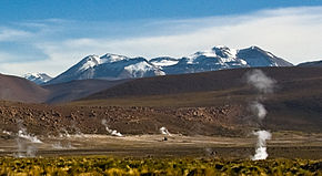 The linzor volcano seen from el tatio geo thermal field chile ii region.jpg