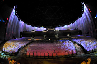 Zappos Theater - Interior of the theatre seen from the stage (c.2009)