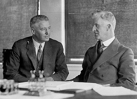 Scullin with Treasurer Ted Theodore in December 1929 Theodore and Scullin.jpg