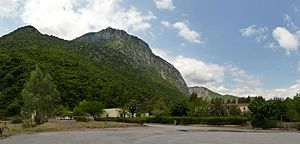 Kallidromo - Kallidromo mountain seen from Thermopylae