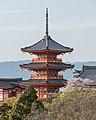 Three-storied Pagoda, Kiyomizu-dera, Kyoto, Southeast view 20190416 2.jpg