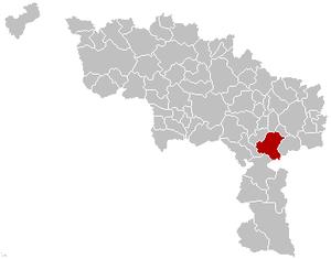 Thuin - Image: Thuin Hainaut Belgium Map