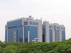 India's economy has rapidly expanded since 1991, and it boasts a huge skilled labor resource pool that has deeply influenced the rise of technology-based industries in India and across the world. Pictured here is the Tidel Park in Chennai, one of the largest software parks in India.