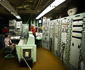 Titan Missile Museum - Overall view of control room and various pieces of launch equipment.
