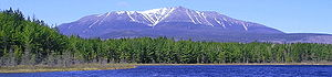Katahdin, the highest peak in Maine, the cente...