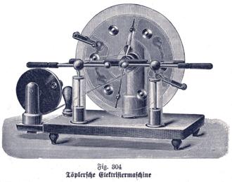 August Toepler - Toepler electrostatic generator.