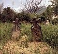 Tokod, Komárom-Esztergom megye. A régi községi temető. Háttérben a Nagy-Gete. Fortepan 21757.jpg