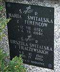 Tomb of Świtalski family at Central Cemetery in Sanok 2 Maria, Urszula.jpg