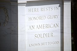 Tomb of the Unknown Soldier - NW view detail - Arlington National Cemetery - 2012.jpg