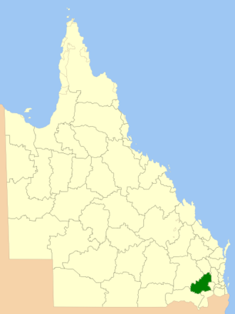 Toowoomba Region - Location within Queensland