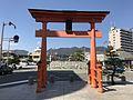 Torii in front of Miyajimaguchi Station (Ferry).jpg