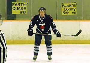 Toronto Varsity Blues men's ice hockey - Blues player in 2013-14 season.