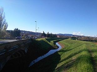 Il torrente Vingone a Lastra a Signa