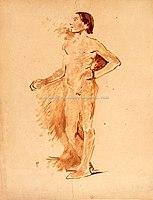 Toulouse-Lautrec - HOMME MAIN SUR LA HANCHE, vers 1882,1886, MTL.98.jpg