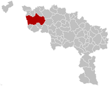 Location of Tournai in Hainaut
