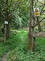 Traffic instructions near Chesterton, Shropshire - geograph.org.uk - 1302243.jpg